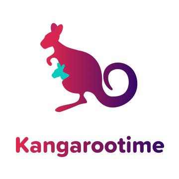 Logo for Kangaroo time child care communications company